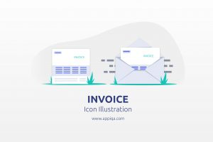 Free Invoice Icon Illustration Editable SVG