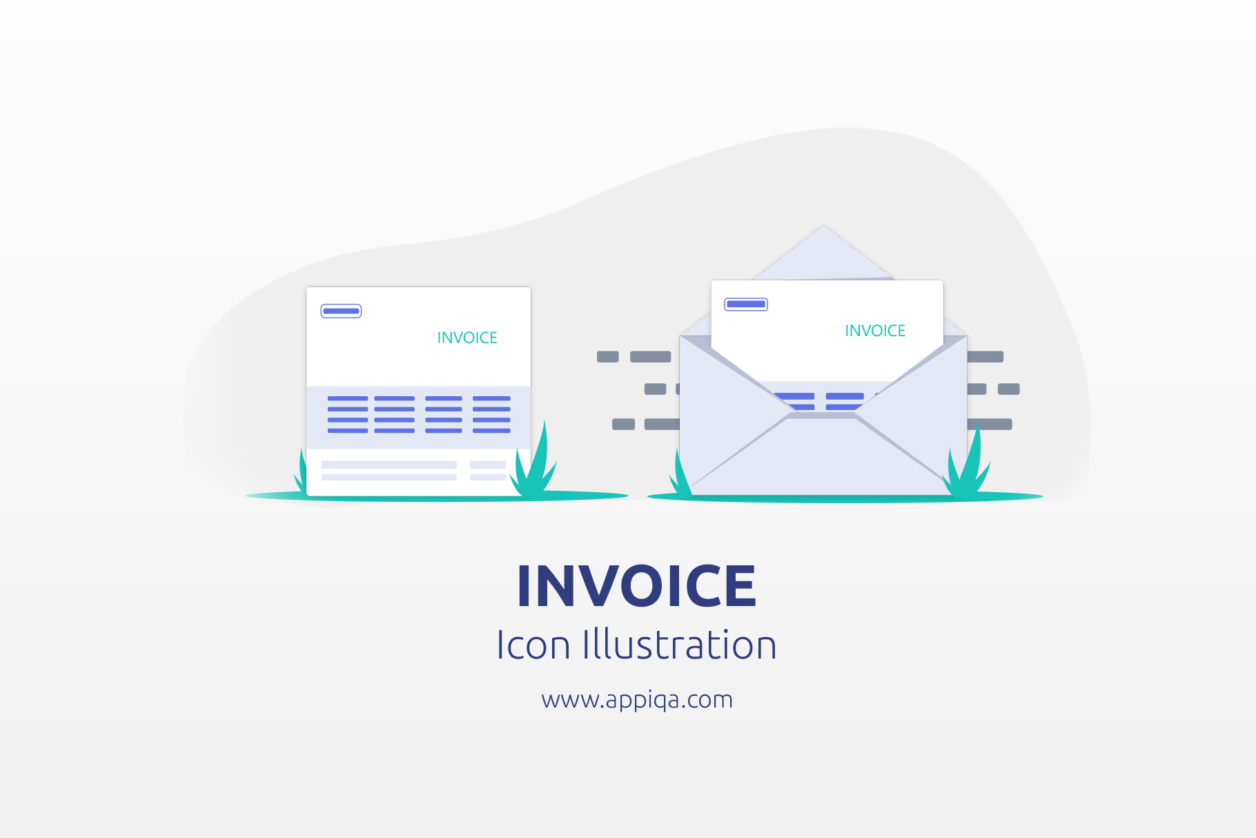 Free Invoice Icon Illustration Editable SVG