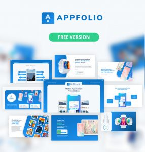 Appfolio Free Version Animated Portfolio Mockup Powerpoint